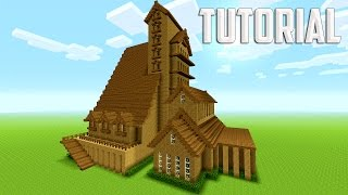 Minecraft Tutorial: How To Make A Big Mansion   Survival House [ Part 1 ]
