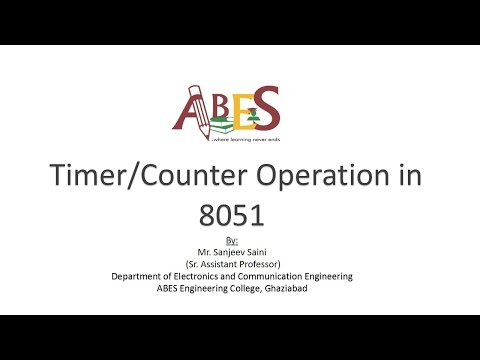 Timer/Counter Operation in 8051 by Mr. Sanjeev Saini [Microcontroller]