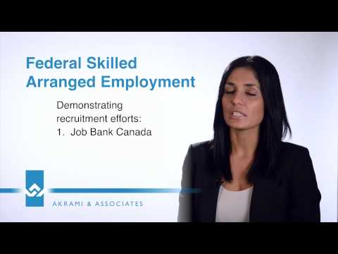 Federal Skilled Arranged Employment Video