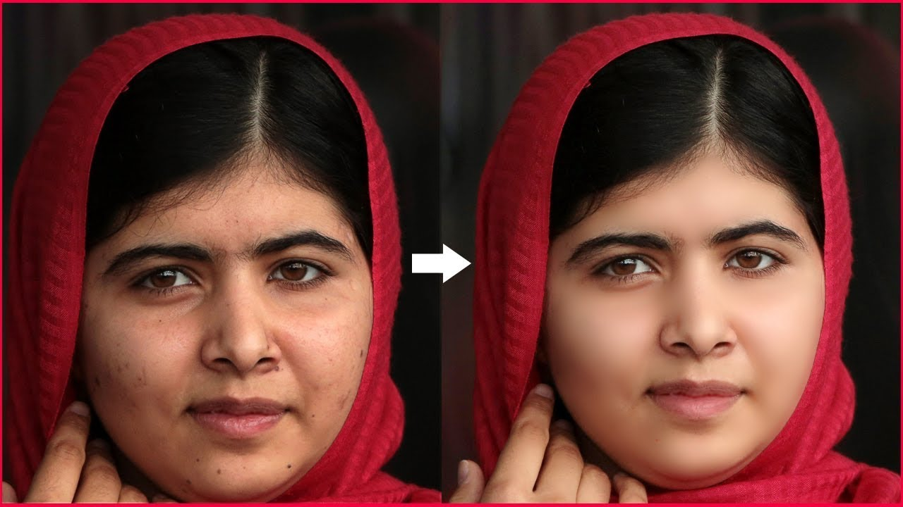 photo retouching tutorial smooth skin