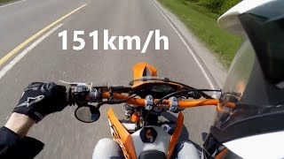 6. KTM EXC 125 0-100km/h and Top Speed
