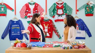 Up Your Holiday Ugly Sweater Game With These Easy DIY Tricks by POPSUGAR Girls' Guide