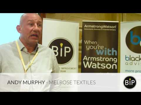 Alec Blacklaw, The BIP and  Andy Murphy, Melrose Textiles Co.