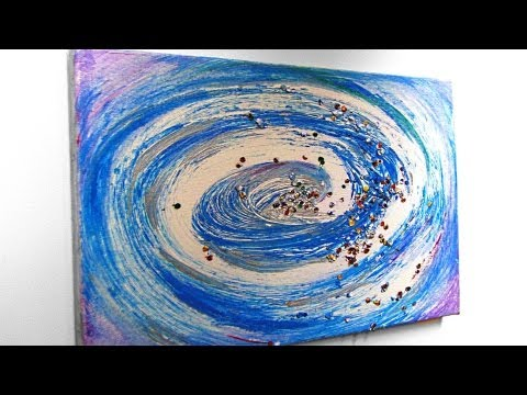 Wirbel, abstrakt malen mit Acryl (Whirl, abstract painting with acrylic)[HD]