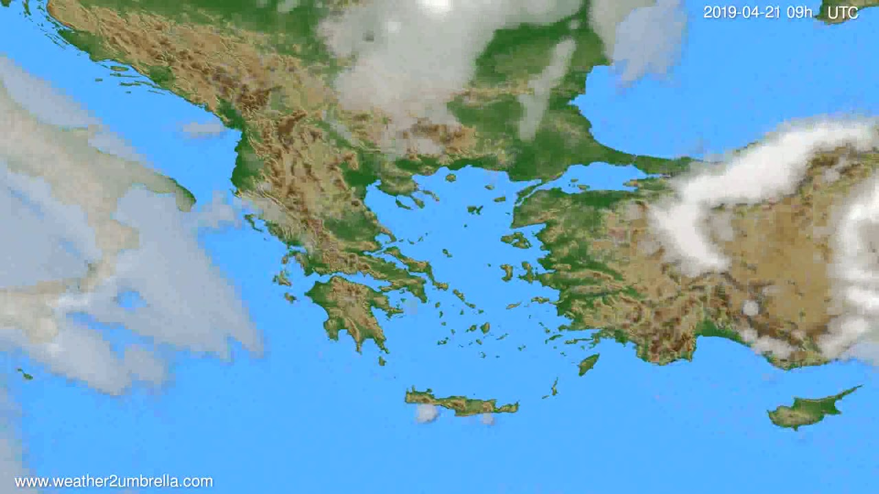 Cloud forecast Greece // modelrun: 00h UTC 2019-04-19