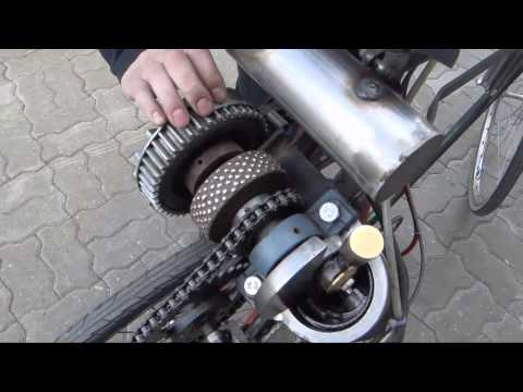 Homemade open crank motor bicycle