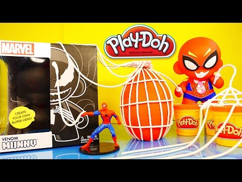toys - Play Doh Spider-Man Surprise Egg + Giant Do It Yourself Venom Kidrobot Munnyworld Sticker Art. Visit Disney Cars Toy Club for more Disney Princess, Playdough, Surprise Eggs, Pixar Cars and...