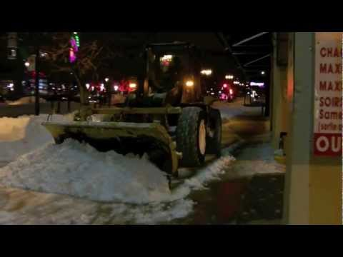 Snow Removal - Great snow removal in Montreal, QC, Canada. They just had a large snowfall and it needed to be cleared. They have all sorts of neat equipment, ranging from s...
