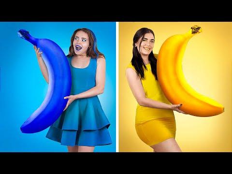 Bananen-Herausforderung - Bananen-Hacks und Streiche!
