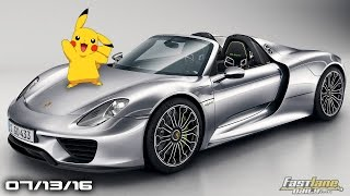 Pokemon GO in a Porsche 918, Tesla Roadster 340 Mile Upgrade, Santa Cruz Pick Up- Fast Lane Daily by Fast Lane Daily