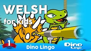 Watch more: http://dinolingo.com/languages/welsh.html Dino Lingo Welsh for Kids is a language set where cartoon dinosaur characters introduce the most ...