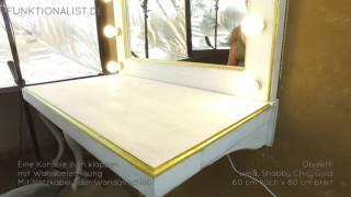 Theaterspiegel 11 Konsole/ weiß-gold