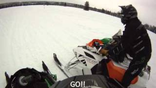 7. LINE'N UP THE ARCTIC CAT SLEDS - THE REAL DEAL! 2012 1100 TURBO , 2012 F8 , 2011 TURBO