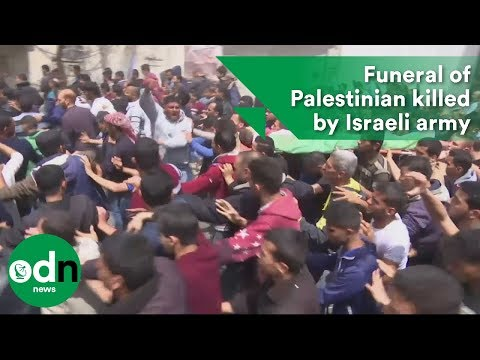 Funeral of Palestinian killed by Israeli army