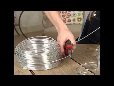 Как сделать люстру из проволоки