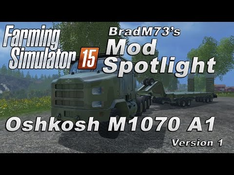 Oshkosh M1070 truck with trailer v1.0