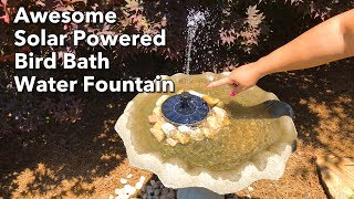 My wife Nikonya bought this cool Ankway solar powered bird bath water fountain from Amazon. Here's the link: https://goo.gl/vAEApkIt performs really well, but you have to limit the area where it floats with rocks or other device to keep it from floating to a side and pumping the water out of the birdbath. We like it a lot though. It really shows just how much power the sun provides to throw that water up 14 to 16 inches in the air!