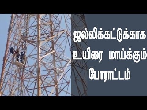 Jallikattu Students Protest Ar Mobile tower