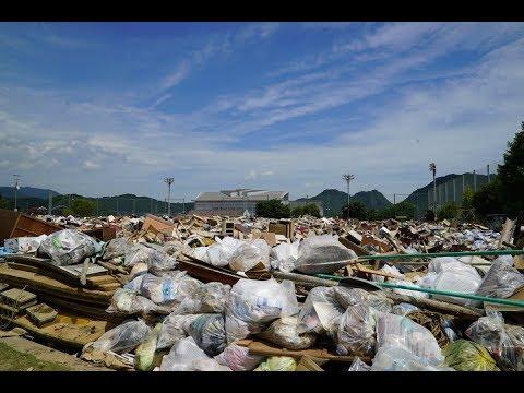 旧小学校校庭が次々とごみで満杯に 広島県三原市からの「人が足りない!」というSOS