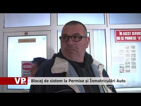 Blocaj de sistem la Permise și Înmatriculări Auto
