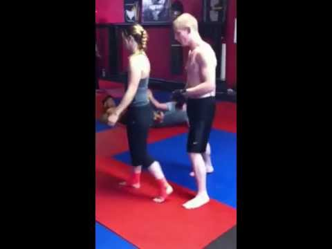 SSF Submission Academy - SSF fighter Charles Costello shows how to do a takedown to a heel hook.