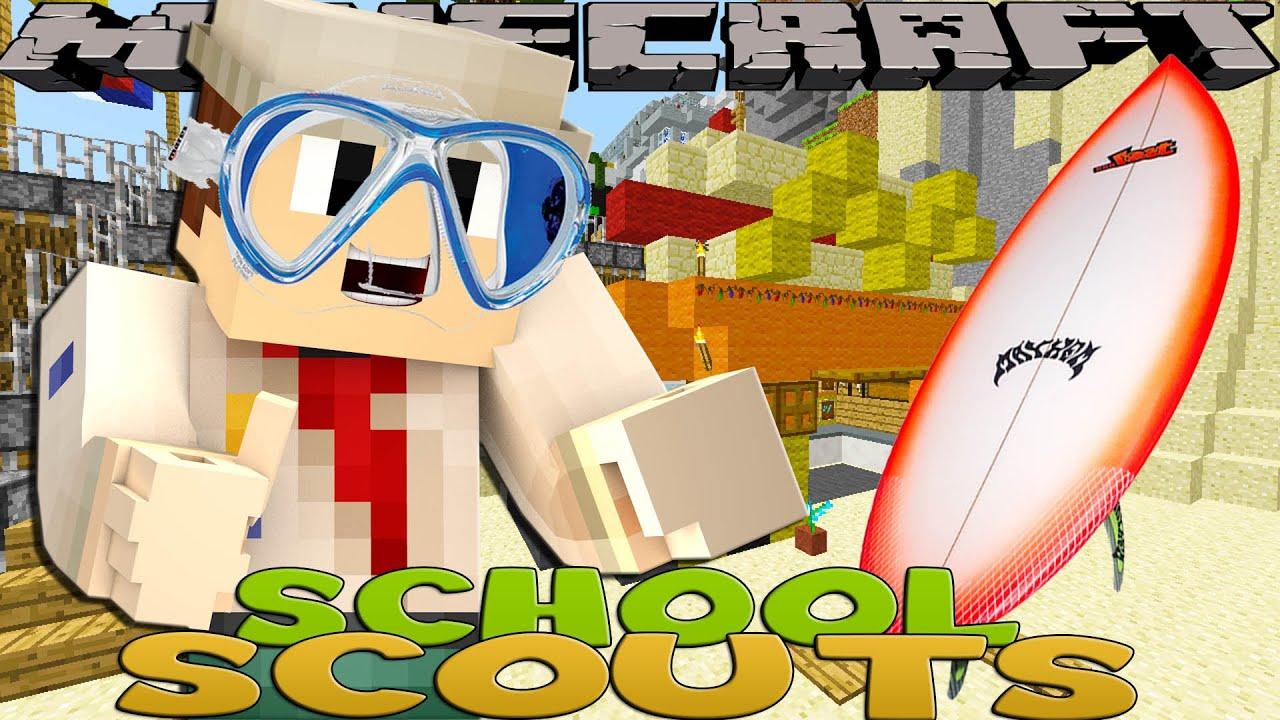 Minecraft School Scouts – EXTREME WATER SPORTS BADGE!!