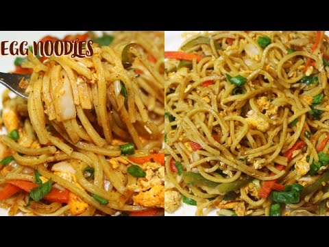 HOW TO MAKE EGG NOODLES AT HOME IN ENGLISH