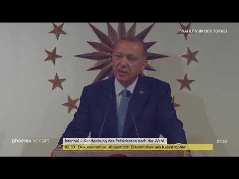 Wahl in der Türkei: Rede von Recep Tayyip Erdoğa ...