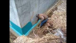 Rub-R-Wall Spray On Foundation Waterproofing Application