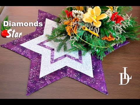 patchwork - stella diamantata natalizia