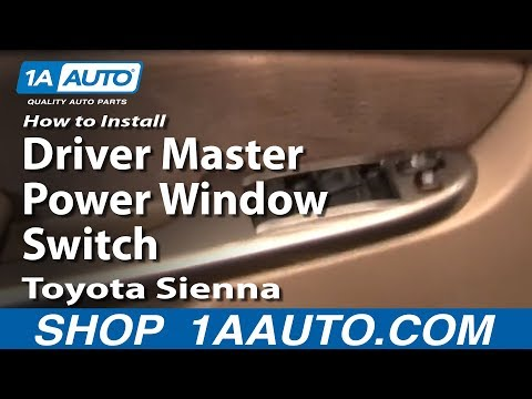 How To Install Replace Driver Master Power Window Switch Toyota Sienna 04-10 1AAuto.com