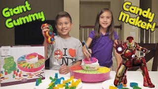 GIANT GUMMY CANDY MAKER! with Marvel Super Hero Gummies! MESSY FAIL!