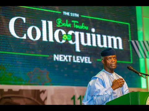 Prof. Yemi Osinbajo at the 11th Bola Tinubu Colloquium Abuja
