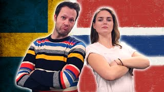 Swedish guy tries to speak Norwegian while HelleMyLady, a girl from Norway tries to speak Swedish in a language challenge.