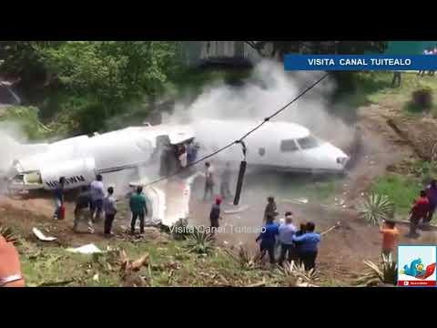 Avión estadounidense se parte en dos al aterrizar en Honduras (VÍDEO)