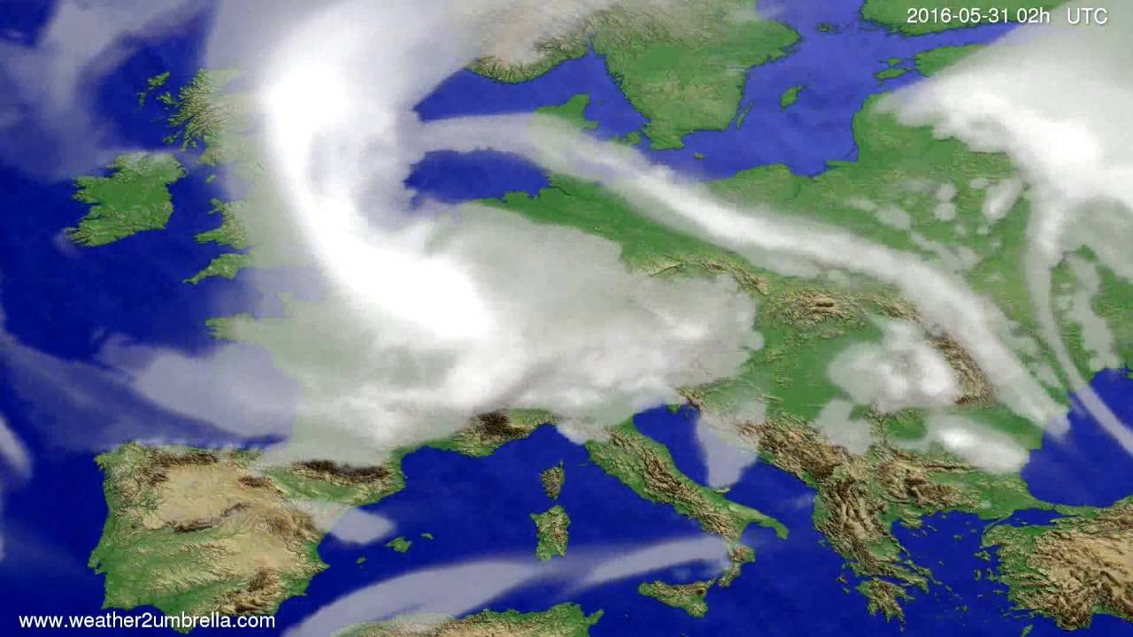 Cloud forecast Europe 2016-05-27