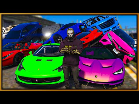 GTA 5 Roleplay - SELLING 100 STOLEN SUPERCARS | RedlineRP