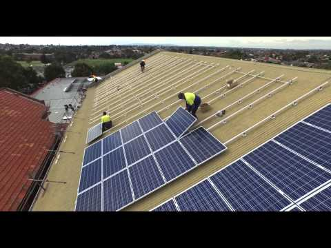 Solar panel install at Coburg Town Hall video