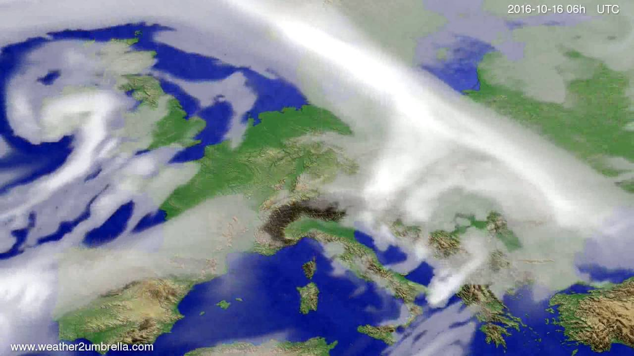 Cloud forecast Europe 2016-10-13