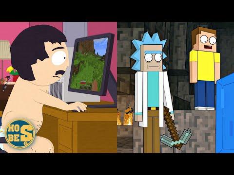 Minecraft'a Gönderme Yapan 5 Çizgi Dizi ve Video Oyunu