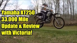 9. Yamaha XT250 33,000 Mile Update Review with Victoria!