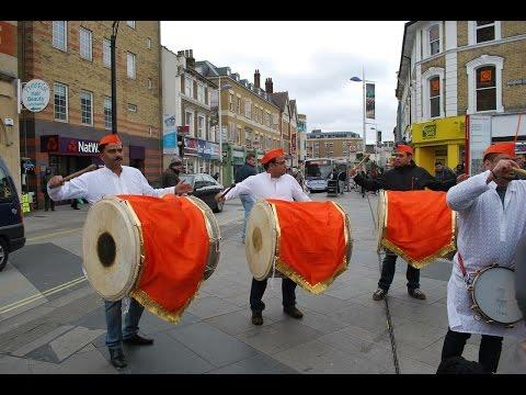Dhol Tasha In London MML Dhol Beats UK Diwali in London Trafalgar Square 2016 dholbeatsuk