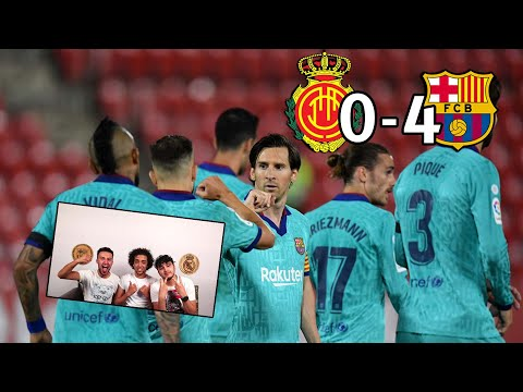 FOOTBALL IS BACK!! MESSI LEADS BARÇA TO A 0-4 VICTORY | REACTION - REACCIONES