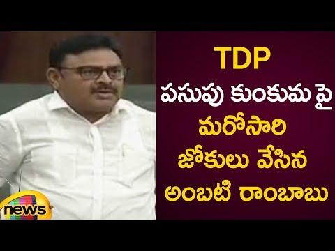 Ambati Rambabu Funny Comments On TDP Pasupu Kumkuma Scheme | AP Budget Session 2019 | Mango News