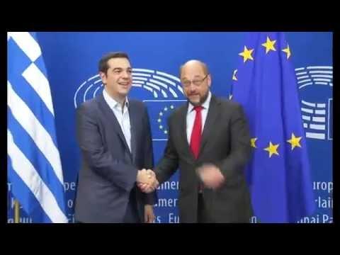 Βρυξέλλες: Συνάντηση Αλέξη Τσίπρα – Μάρτιν Σουλτς