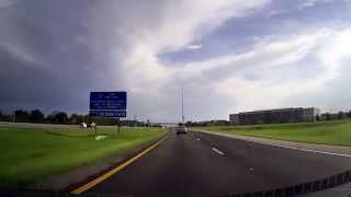 Interstate 4 through Orlando, Florida. Handmade gps-track.
