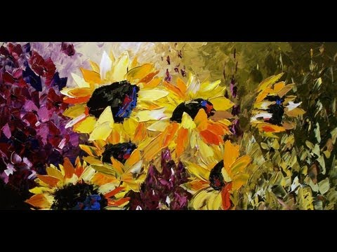 flower painting - http://www.ARTbyLENA.com Original canvas paintings by Canadian artist Lena Karpinsky.