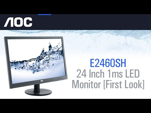 AOC e2460Sh 24 Inch 1ms LED Monitor First Look & Overview!