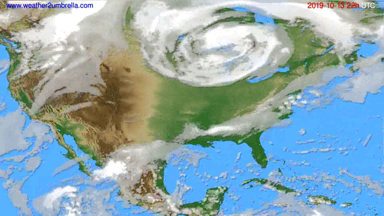 Cloud forecast USA & Canada // modelrun: 12h UTC 2019-10-11