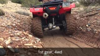 7. Vid #54 - 4x4 action with '16 Honda Rancher 4x4 DCT EPS, 1-2-16